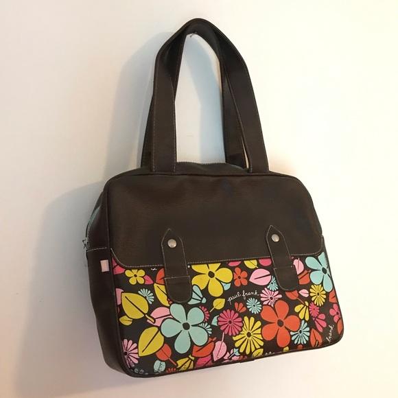 Paul Frank Handbags - Rare! Paul Frank brown daisy purse hand vegan